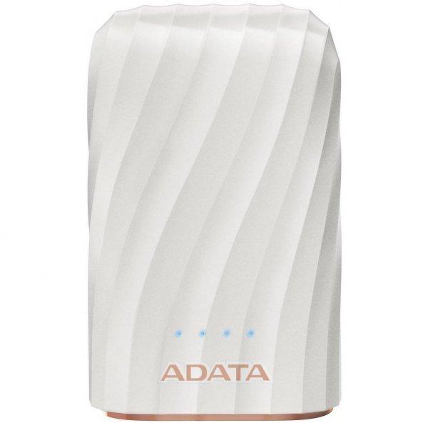 Батарея універсальна ADATA P1050C White (10050mAh, out 2*5V*2,4A max, cable USB-C) (AP10050C-USBC-CWH)