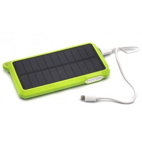Батарея універсальна PowerPlant 10000mAh 1*USB/1A 1*USB/2A Solar 15V/200mA (PB-SS002G)