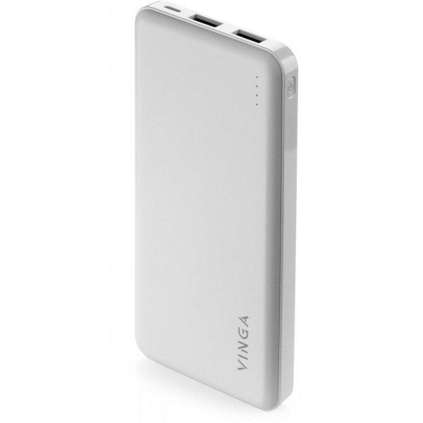 Батарея універсальна Vinga 10000 mAh white (BTPB1910WH)