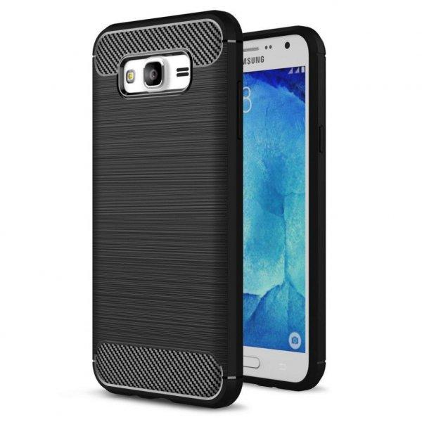 Чохол до моб. телефона для SAMSUNG GalaxyJ7 2016 Carbon Fiber (Black) Laudtec (LT-J72016B)