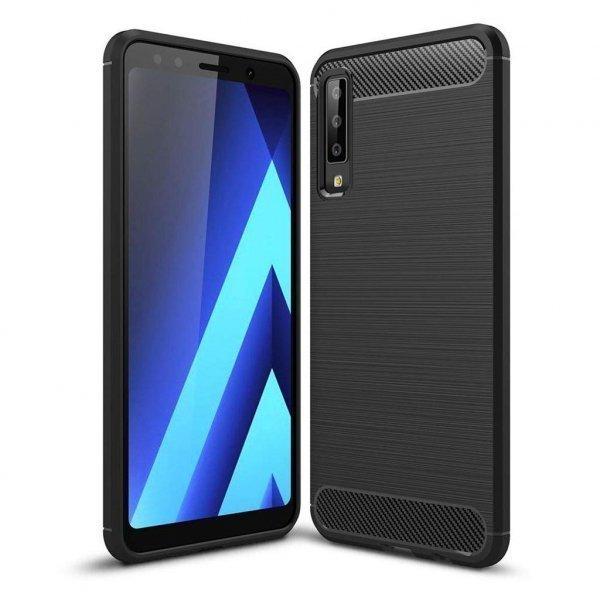 Чохол до моб. телефона Laudtec для Galaxy A7 2018/A750 Carbon Fiber (Black) (LT-SGA72018)
