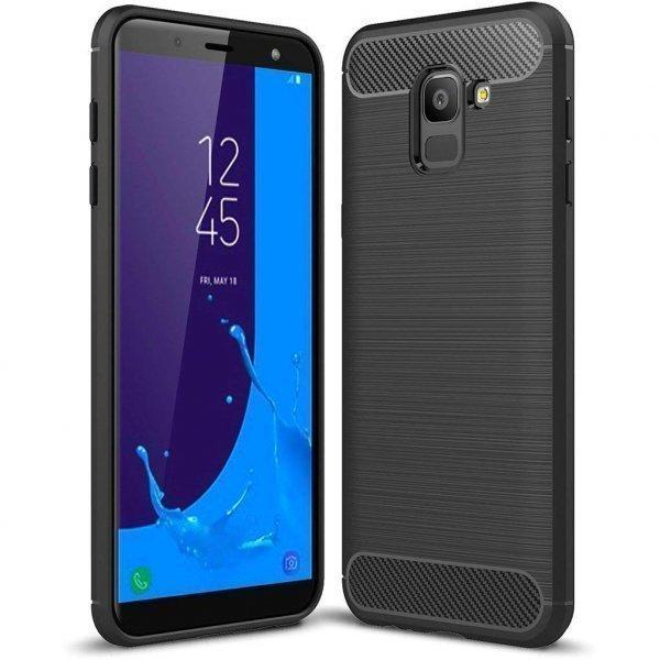 Чохол до моб. телефона Laudtec для Samsung J6 2018/J600 Carbon Fiber (Black) (LT-J600F)