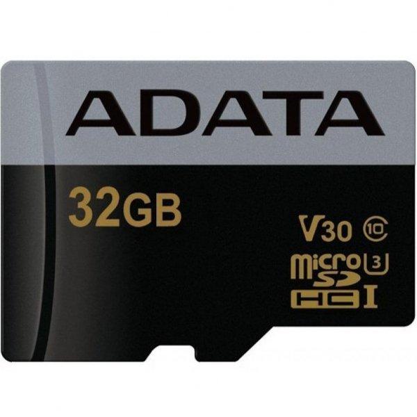 Карта пам'яті ADATA 32GB microSD class 10 UHS-I U3 V30 Premier Pro (AUSDH32GUI3V30G-R)