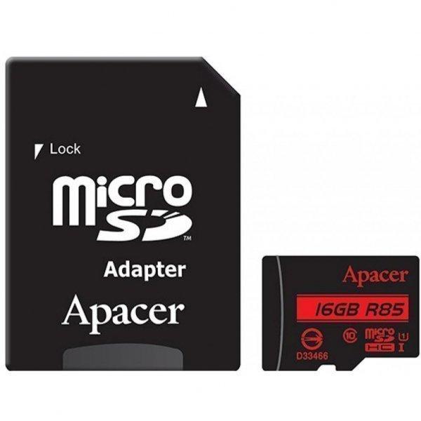 Карта пам'яті Apacer 16GB microSDHC Class10 UHS-I (AP16GMCSH10U5-R)