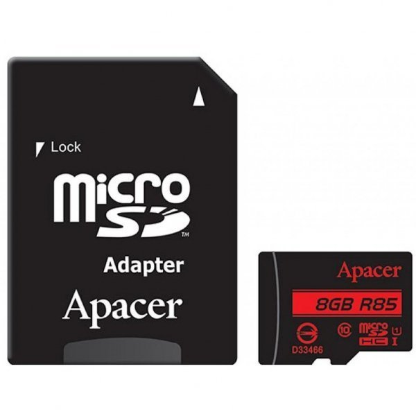 Карта пам'яті Apacer 8GB microSDHC Class10 UHS-I (AP8GMCSH10U5-R)