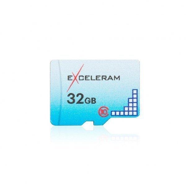 Карта пам'яті eXceleram 32GB microSD class 10 Color series (EMSD0005)