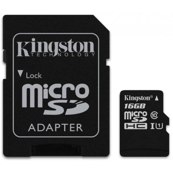 Карта пам'яті Kingston 16GB microSDHC Class 10 UHS-I (SDC10G2/16GB)
