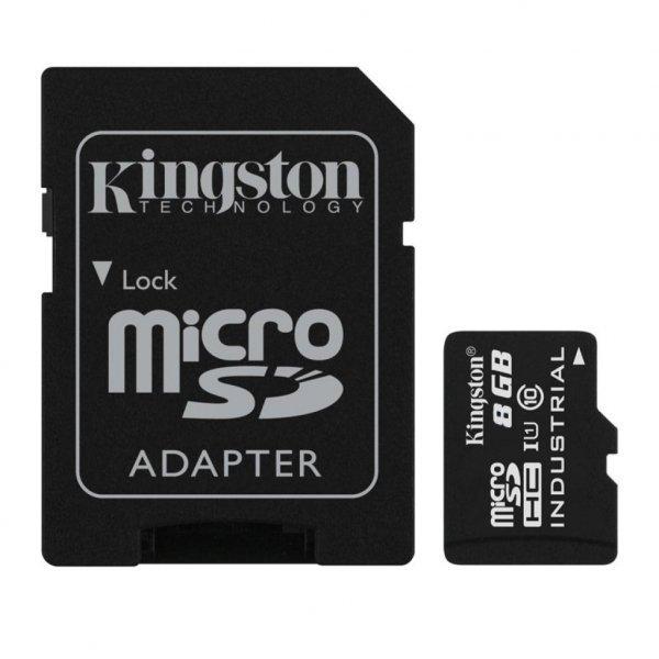 Карта пам'яті Kingston 8GB microSD class 10 UHS-I Industrial (SDCIT/8GB)