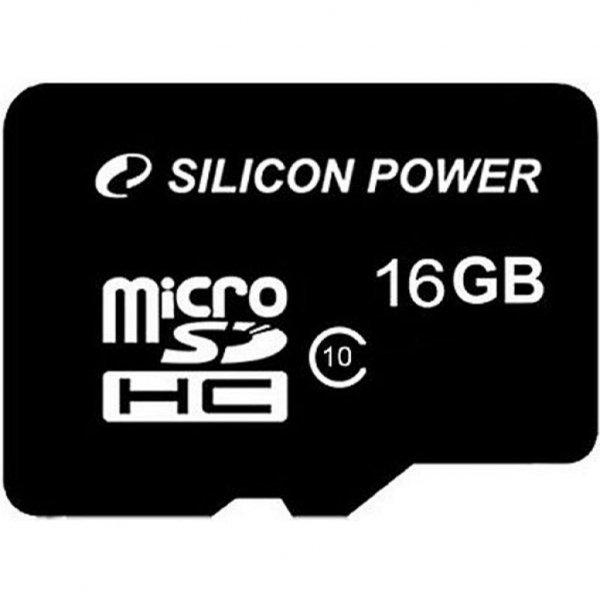 Карта пам'яті Silicon Power 16Gb MicroSD class 10 (SP016GBSTH010V10SP)