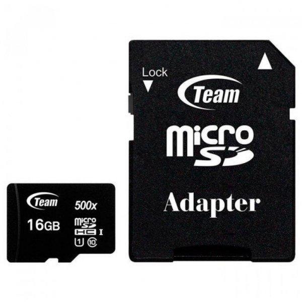 Карта пам'яті Team 16GB microSD class 10 UHS-I (TUSDH16GCL10U03)