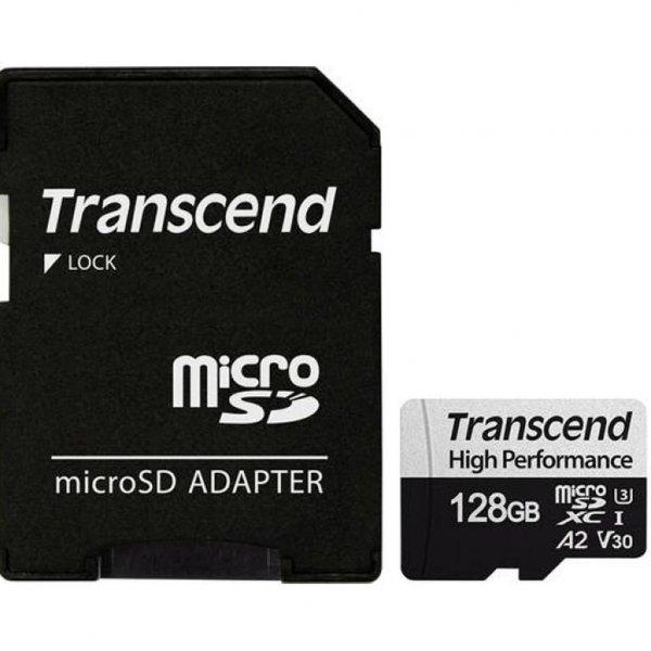 Карта пам'яті Transcend 128GB microSDXC class 10 UHS-I U3 A2 (TS128GUSD330S)