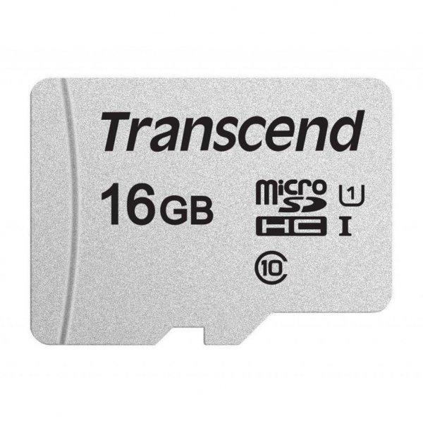 Карта пам'яті Transcend 16GB microSDHC class 10 UHS-I U1 (TS16GUSD300S)