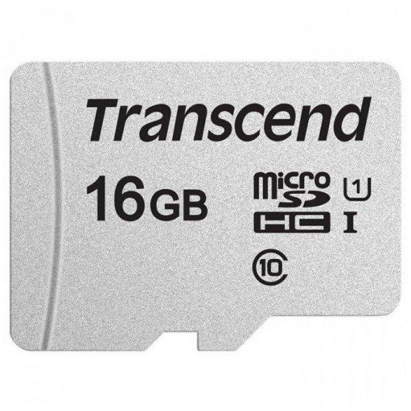 Карта пам'яті Transcend 16GB microSDHC class 10 UHS-I U1 (TS16GUSD300S-A)