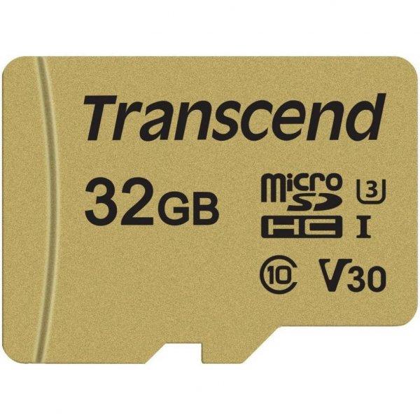 Карта пам'яті Transcend 32GB microSDHC class 10 UHS-I U3 V30 (TS32GUSD500S)