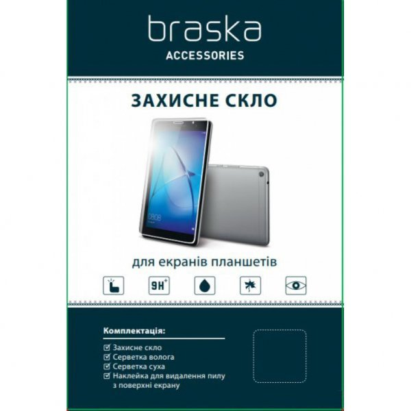Скло захисне BRASKA for tablet Lenovo TAB4 8.0 Plus (8704) (BRS-L8704GL)