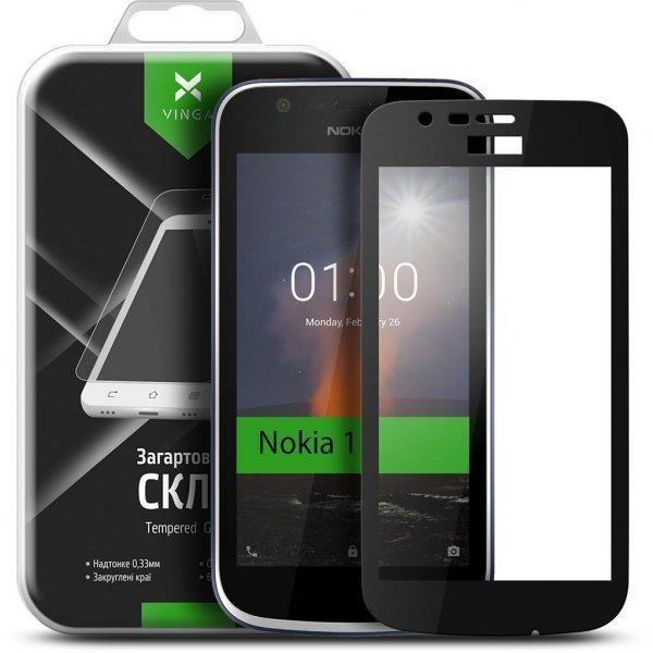 Скло захисне Vinga для Nokia 1 Black (VTPGS-N1B)