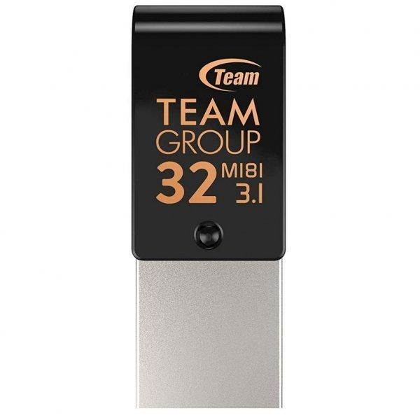 USB флеш накопичувач Team 32GB M181 Black USB 3.1/Type-C (TM181332GB01)