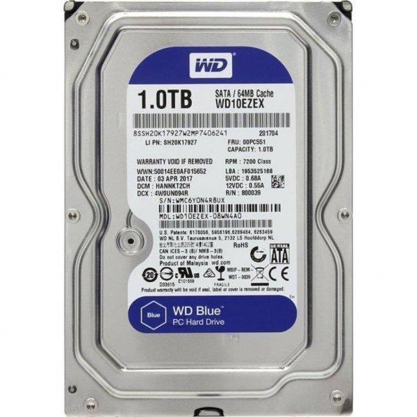 Жорсткий диск 3.5 1TB Western Digital (#WD10EZEX-FR#)